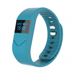 Bluetooth Smart Wrist Bracelet M5 Blood Pressure/Oxygen Watch For Android IOS Light Blue one size