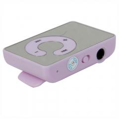 Mini USB Clip MP3 Music Player Support 8GB SD TF Card + Free Earphone Purple Purple