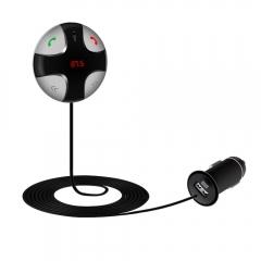 Wireless Hands-free Bluetooth FM Transmitter Modulator Car Kit MP3 Player SD USB black one size