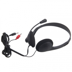2Pcs 3.5mm Jack Computer Headphone with Microphone Stereo Headset For PC Laptop