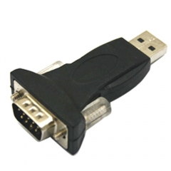 USB 2.0 to RS232 Serial 9 Pin 9P DB9 Adapter Converter black one size