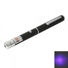 1mw 405nm Blue and Purple Beam Light Starry Sky & Single-point Laser Pointer Pen black No