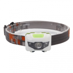 3000LM 3LED Mini Headlight Headlamp Flashlight 4 Mode Bright Torch Light Lamp as picture one size