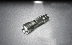 Mini Waterproof Zoomable 3-Mode Retractable Flashlight Torch Light Lamp Silver one size