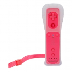 Built in Motion Plus Remote Controller + Case For Nintendo Wii Console Pink