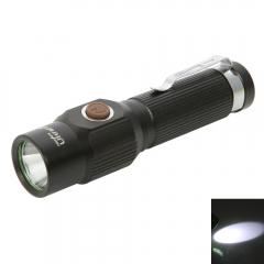 Durable LED High-lights White Flashlight Torch Light Black High-Brightness black one size