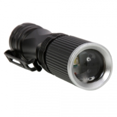 Q5 508 5W 500LM 100m Range Aviation Aluminum Alloy Flashlight Torch Light black one size