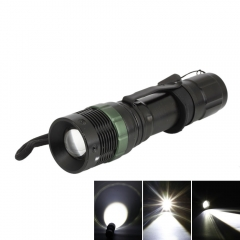 5000Lumen Zoomable Tactical Focusing XML T6 LED Flashlight Torch Camping Lamp black one size
