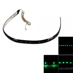 30CM Car Lamp Grill 15 SMD LED 1210 Bulb Strip Decoration Light 12V Green as picture one size no