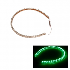 48cm 48LED PVC Bulb Flexible Strip Light Neon Car Lighting as picture one size no