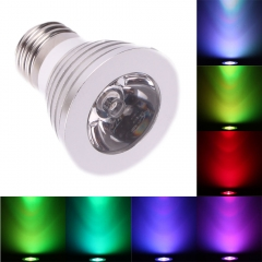 3W E27 16 Color LED RGB Magic Spot Light Bulb Lamp w/ Wireless Remote Control as picture one size 3w