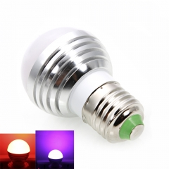 E27 3W Magic RGB Colors Changing LED Light Bulb Remote Control Energy AC85-265V as picture one size 3w