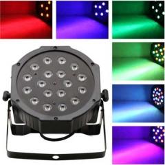 54W RGB Stage Lighting LED DJ Disco Party Xmas Par Light w/ Remote Control black one size 2w