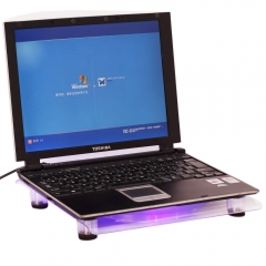 "USB 14.1-15.4"" Laptop PC LED Cooling Pad Cooler Powerful 1 Big Fan Quiet crystal white 14.1-15.4inch"