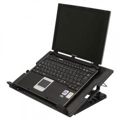"""USB Fan 9-17"""" Notebook Laptop Tablet Cooling Adjustable Stand Cooler Pad Black black 9-17 inch"""