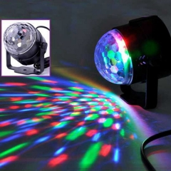 LED RGB DJ Club Disco Party Magic Ball Crystal Effect Light Stage Lighting 3W black one size 3w