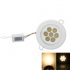 7W 7LED High Power Ceiling Lamp Light Bulbs with LED Driver Warm White white one size 7w