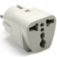 Universal UK US AU To EURO FR Travel Power Charger Adaptor Converter 2-Pin Plug