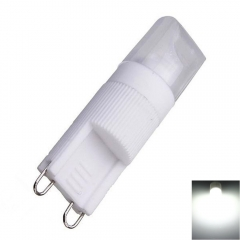 G9 3W 1 x COB 270lm 6000-6500K White Light Dimmable LED Corn Lamp 220V as picture one size 3w