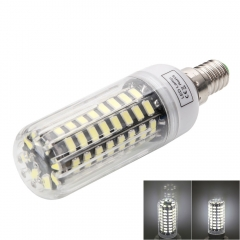 E14 9W 80-LED 5733SMD 6000-6500K White LED Corn Lamp with Lampshade 220-240V as picture one size 9w