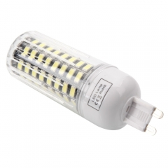 G9 9W 80-LED 5733SMD 6000-6500K White LED Corn Lamp with Lampshade 220-240V) as picture one size 9w