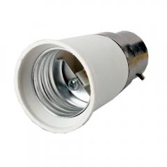 Useful B22 to E27 Base LED Light Lamp Bulb Adapter Converter White one size no