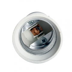 5Pcs B22 to E27 Base LED Light Lamp Bulb Adapter Converter white one size no