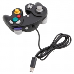 Shock Game Wired Long Controller Pad for Nintendo Gamecube GC WII Black