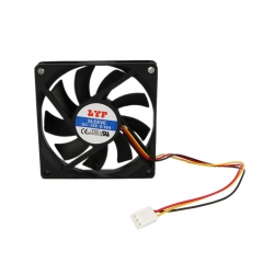 New 3 Pins Black 80mm Chassis Crystal Fan for Computer PC 5845 as picture one size