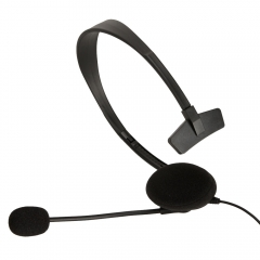 New Small Live Headphone with Microphone for XBOX 360 Controller Slim Black