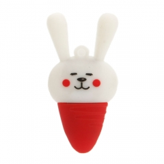 New 2GB USB Flash Drive Memory Stick Storage Cute Carrot Rabbit Shape Thumb Pen as picture one size 2gb