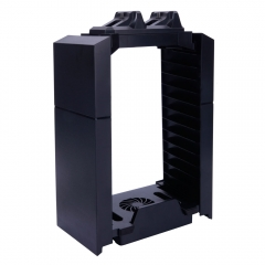 Cooling Fan Vertical Console Storage Stand Charging Dock Station for PS4/PS3