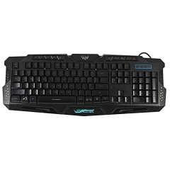 Cool Multimedia 3 colors LED Illuminated Backlight USB Wired Gaming Keyboard PC black one size