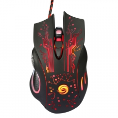6Button 5500DPI LED Optical USB Wired Gaming Mouse Mice for Desktop PC Laptop as picture one size