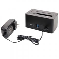 "High-speed ORICO USB 3.0 2.5"" 3.5"" SATA HDD Hard Drive Docking Station black one size"