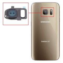 New Rear Back Camera Glass Lens + Frame Cover for Samsung Galaxy S7 S7 Edge blue one size
