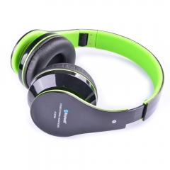 2.4 GHz Foldable Wireless Bluetooth Stereo Headphone 3.5mm Stereo 2.5Hours Green