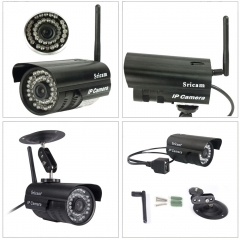 720P HD Outdoor Wireless Wifi Network Security Webcam IR IP Camera System PAL black one size