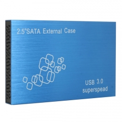 "New 2.5""307 LED Aluminum Alloy USB 3.0 to SATA 3D Hard Disk Docking Station blue one size"