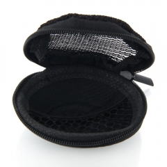 New Nylon Storage Earphone Bag with Skull Pattern for Cell Phone Earphone black one size