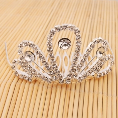 Wedding Bridal Crystal Rhinestone Comb Crown Tiara Women Headpiece Jewelry New