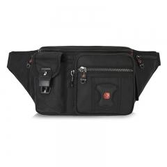Swissgear Fanny Pack Splatterproof Men Waist Belt Bag Women Purse Hip Pouch black one size