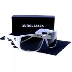 Unisex Fashionable Super Cool  Sunglasses Grey one size