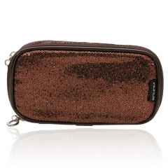 Women's Makeup Case Cosmetic Travel Pouch Bag Clutch Casual Purse Handbag Coffee one size