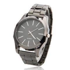 Luxury Tungsten Steel Needle Scale Men's Business Sports Gift Quartz Wrist Watch black one size