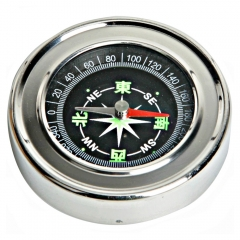 62mm Mini Camping Climbing Travel Round Metal Shell Shape Pocket Compass Tool as picture show