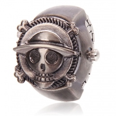 Punk Style Skull shaped Alloy Ring Watch Bronze 3# Copper