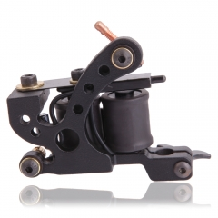 Professional Casting Carbon Steel 10 Wrap Coils Liner Tattoo Machine Gun XHJ006A black