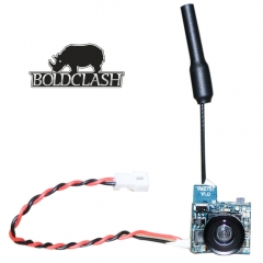 Boldclash F-01 5.8GHz 48CH Antishock AIO TX Micro FPV Camera Combo - Tiny Whoop as picture F-01