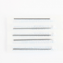 Pro 10 x Sterilized Disposable Tattoo Piercing Needle 16G 1.2mm silver